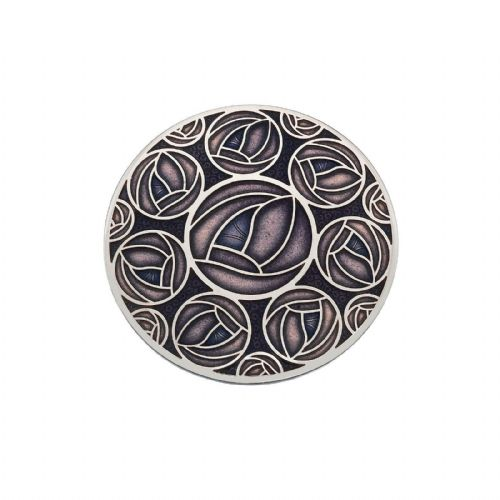42mm Mackintosh Rose Brooch Purple Silver Plated Brand New Gift Packaging